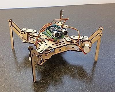 Meped Mini Quadruped Robot Deluxe Kit - Arduino Robotic Walker