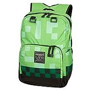 "Minecraft 18"" Creeper Kids Backpack - Green"