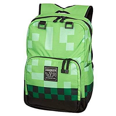 "Minecraft 18"" Creeper Kids Backpack - Green"