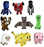 "Minecraft 7"" Assorted Plush: Set of 9"