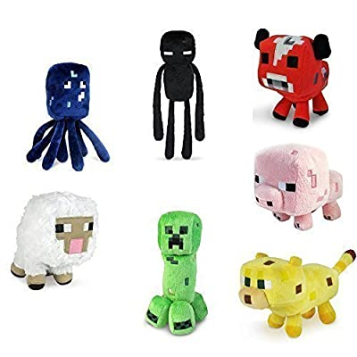 "Minecraft 7"" Assorted Plush?Set of 7?"