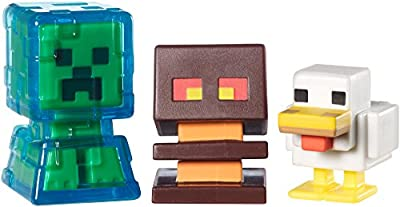 Minecraft Collectible Figures Chicken, Electrified Creeper and Magma Cube 3-Pack, Series 2