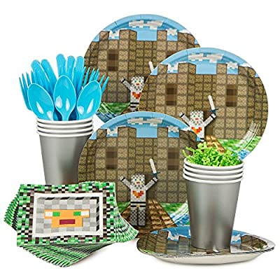 Minecraft Inspired Medieval Standard Kit (Serves 8) - Party Supplies by Costume SuperCenter