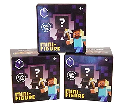 Minecraft Mystery Mini-Figure Series 4 Obsidian (Set of 3 Boxes)