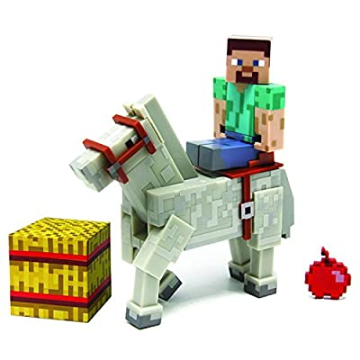 Minecraft Steve with Horse Action Figure (2-Pack)