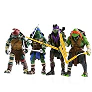 NEWEST! 4PCS Lot TMNT Teenage Mutant Ninja Turtles Action Figures Anime Movie Xmas Gift