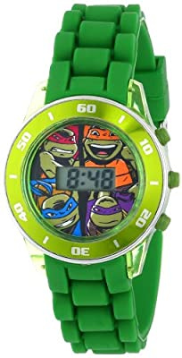 Nickelodeon Kids' TMN4008 Teenage Mutant Ninja Turtles Watch with Green Rubber Band
