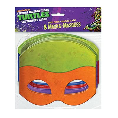 Paper Teenage Mutant Ninja Turtles Masks, Assorted 8ct