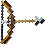 Pixel Mosaic Bow and Arrow Set Plastic Assembled for Kids Birthday Party Pixel Miner Gaming for Minecraft Toys
