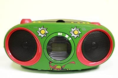 Portable, Teenage Mutant Ninja Turtles Boombox CD Player with Text Display, AM/FM Stereo Radio, Repeat Function Consumer Electronic Gadget Shop