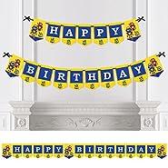 Robots - Birthday Party Bunting Banner - Happy Birthday