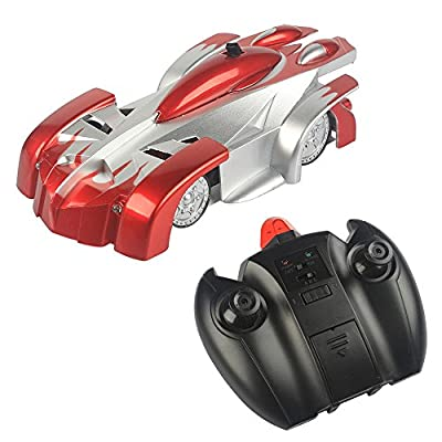 SainSmart Jr. RC-07 4 Channel 2-in-1 Wall Climbing RC Stunt Racing Car Toy, Good Gift for Kids