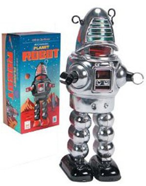 Schylling Chrome Planet Robot