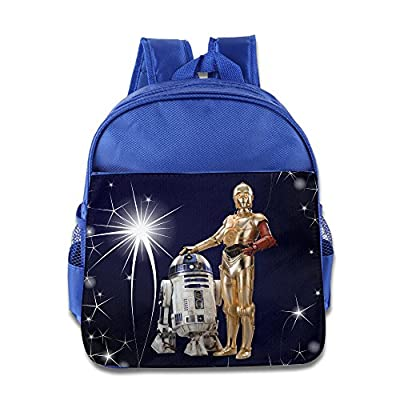 Star War SWP C3po And R2 D2 Render Kids School RoyalBlue Backpack Bag