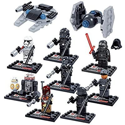 Star Wars 10 Pcs Set Mini Action figures Kylo Ren TIE Pilot Captain Phasma R2D2 Building Block Toy Gift Compatible