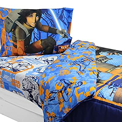 Star Wars Bedding Set Rebels Fight Comforter and Sheet Set