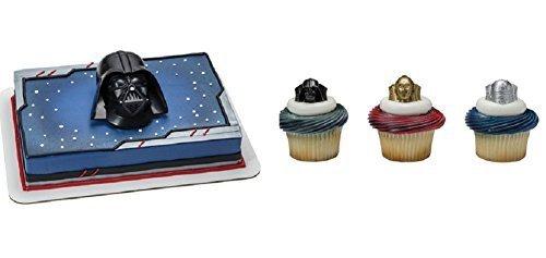 Star Wars Darth Vader Cake Topper PLUS 24 Matching Cupcake ...