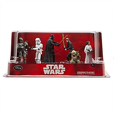 Star Wars Figure Playset - Includes - Darth Vader, Luke Skywalker, Princess Leia, Yoda, Boba Fett and Stormtrooper