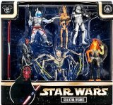 Star Wars Figure Set Disney Exlusive Set of Villians with Darth Maul, General Grevious Etc