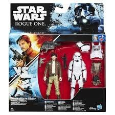 Star Wars: Rogue One, Captain Cassian Andor and Imperial Stormtroopers Exclusive Action Figures, 3.75 Inches