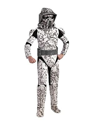 Star Wars The Clone Wars, Child's Deluxe Costume And Mask, Arf Trooper Costume