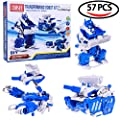 Take Apart DIY Boy Robot Kit Engineering Building Stem Electric Assembly Mechanics Robot, Tank, Scorpion Toy Play Set - 57 pcs