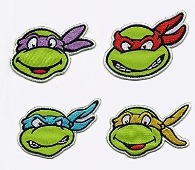 Teenage Mutant Ninja Turtles ALL 4 Iron On/Sew On Embroidered Patches