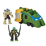"Teenage Mutant Ninja Turtles Micro Mutant Shellraiser with 1.15"" Scale Super Ninja Leonardo and Super Shredder Figures and Vehicle"
