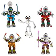 "Teenage Mutant Ninja Turtles Nickelodeon Metal Mutant 5-Pack 5"" TMNT Space Figure Exclusive Set"