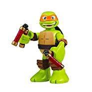 "Teenage Mutant Ninja Turtles Pre-cool Half Shell Heroes 6"" Michelangelo Powersound Talking Turtles Figure"