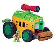 Teenage Mutant Ninja Turtles Pre-Cool Half Shell Heroes Shellraiser with Leonardo Vehicle and Figure