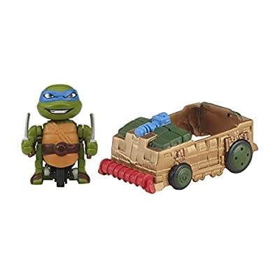 Teenage Mutant Ninja Turtles T-Sprints Lickety Split Leonardo with Shellraiser Basic Figure