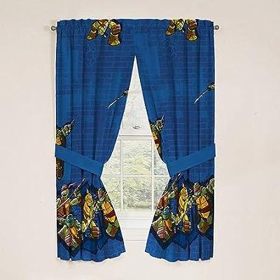 Teenage Mutant Ninja Turtles TMNT Window Panels Curtains Drapes, Set of 2