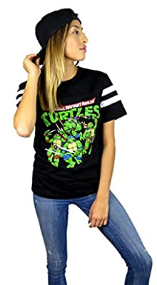 Teenage Mutant Ninja Turtles Womens Varsity Football Tee