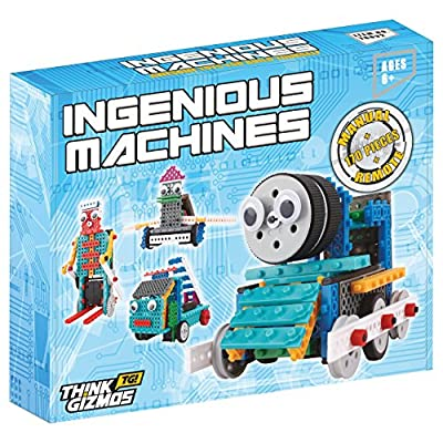 Think Gizmos Build Your Own Robot Toys for Kids – Ingenious Machines Remote Control Robot Building Kit …