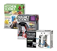 Tin Can Robot - Kitchen Science - Magnet Science Gift Bundle - 3 Pack by Universal Specialties