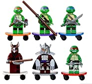 TMNT 6 Pcs Set Teenage Mutant Ninja Turtles Action Mini Figures Building Toy Compatible With Lego