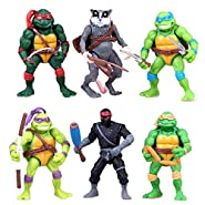 UltraGuards Teenage Mutant Ninja Turtles Action Figures Collectible Figurines TMNT 4.7-Inch, 12cm, Set of 6pc