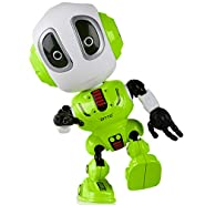 "USA Toyz Talking Robot Kids Toys - ""DITTO"" Talking Robot Toy with Metal Mini Robot Body and 11 Posable Robot Toy Joints Repeats Your Voice + Sounds (Green)"