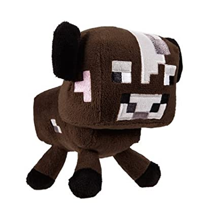 "Zoofy International Minecraft 5"" Baby Cow Stuffed Plush"